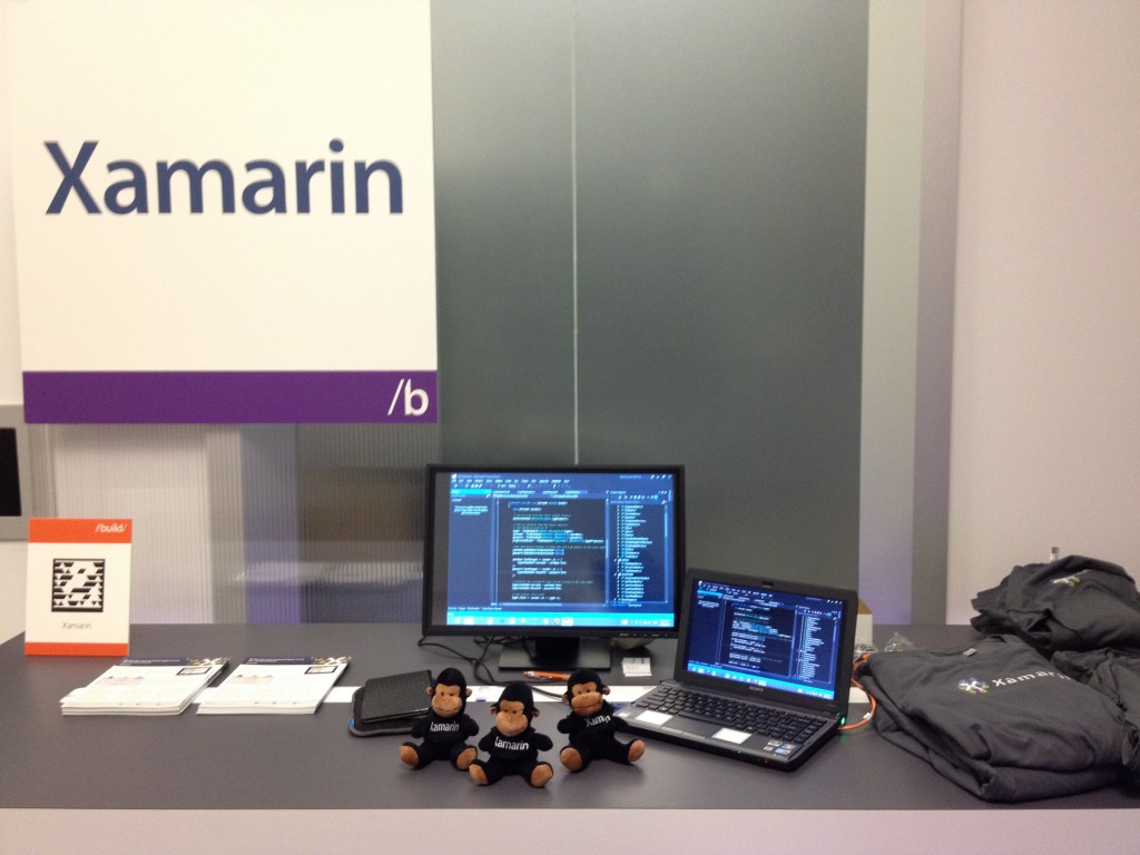 The Xamarin booth at BUILD