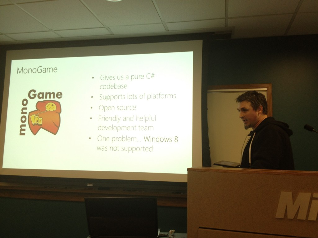 Tom talking about MonoGame at BUILD
