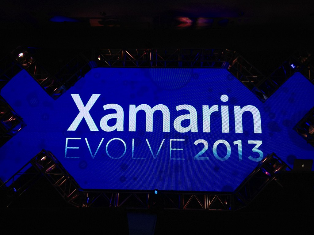 Xamarin Evolve 2013 Screen